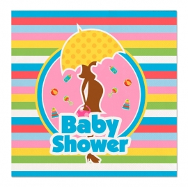 Vrolijke servetten babyshower