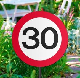 Tuinbord verkeersbord 30