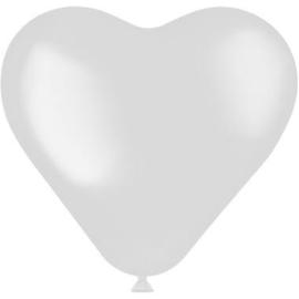 Hartvormige Ballonnen Coconut White - 8 stuks