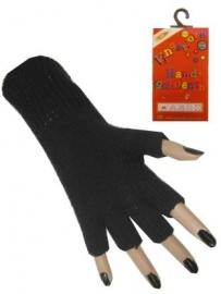 Vingerloze handschoenen zwart