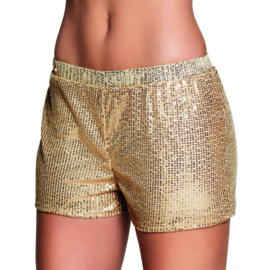 Hotpants sequins goud
