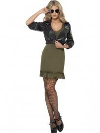 Top Gun kostuum zwart/groen