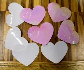 Tafelconfetti XL witte hartjes