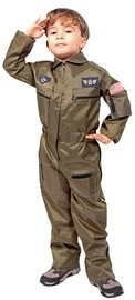 F16 piloot kinderkostuum