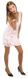 Witte glitter jurk