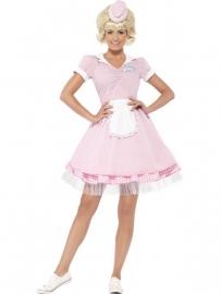 Grease jurkje pink