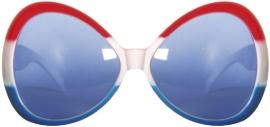 Dames bril rood, wit en blauw