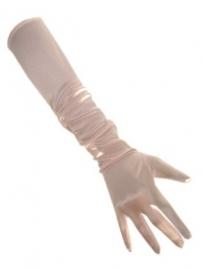 Roze lange handschoenen
