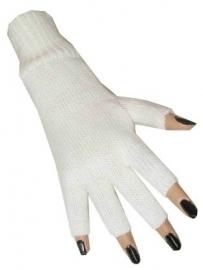 Vingerloze witte handschoenen