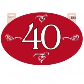 Hudebord 40 jaar huwelijk