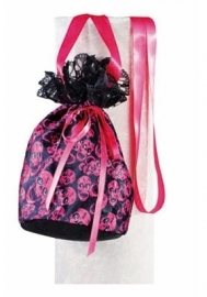 Handtas buidel pirates zwart pink