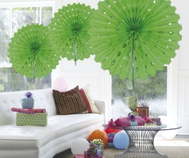 Honeycomb fan lime groen