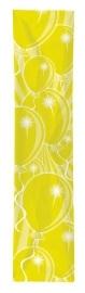 Banner ballonnen geel 300x60