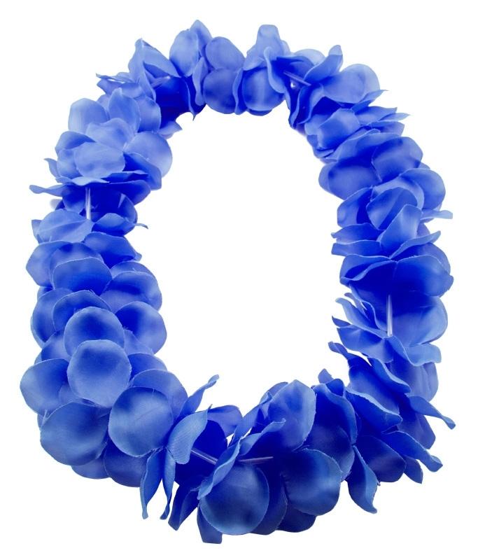 Deluxe blauw hawai krans