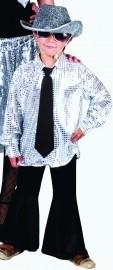 Zilveren disco shirt