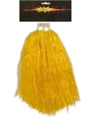 Cheerball met ringgreep geel