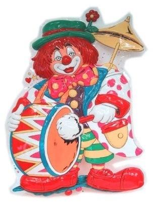 Decoratie clown met dikke trom