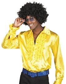 Shiny disco roezel blouse geel