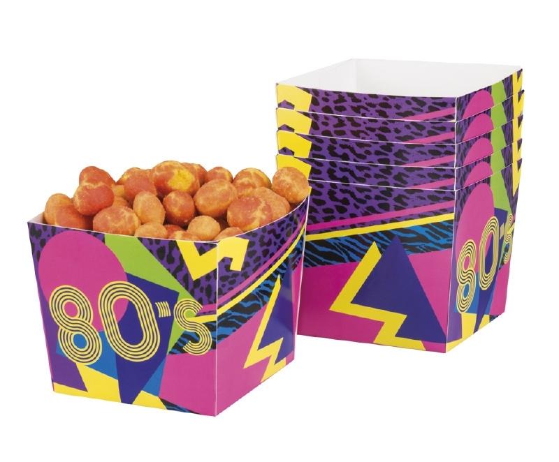 Bowls 80s party doosjes