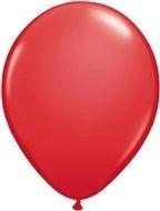 Kwaliteitsballon standaard - rood - 100 stuks