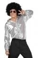 Zilveren disco shirt Shiny