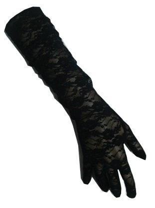 Kanten handschoenen zwart