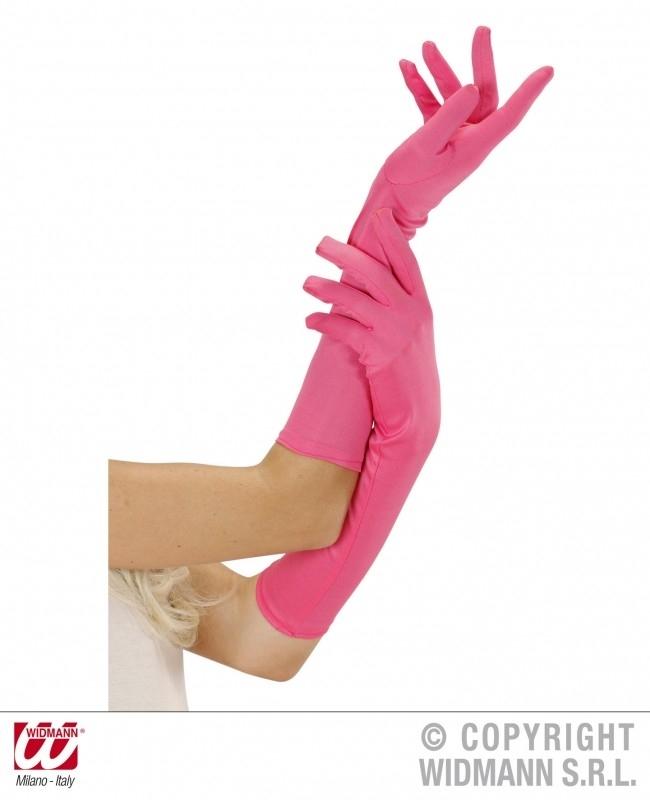 Handschoenen lang Neon Pink