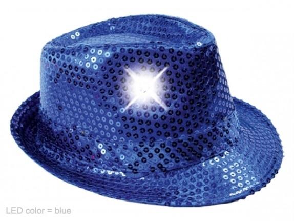 Blauw hoedje met Led verlichting
