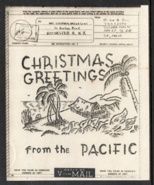 V - MAIL Christmas greetings from the Pacific.