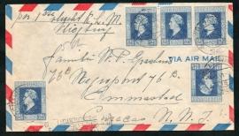 Eerste trans-atlantische vlucht K.L.M. AMSTERDAM-CURACAO. 6 Juni 1946.