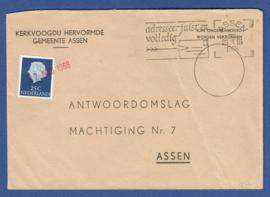 ASSEN, Noodstempel (datum) op lokaal cover.