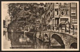 AMSTERDAM, Grimburgwal. Ongelopen kaart.