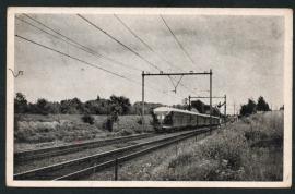 OOSTERBEEK, Langs de spoorlijn. Gelopen kaart.