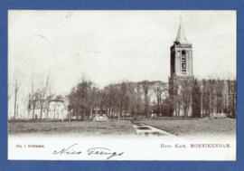 MONNIKENDAM, Herv. Kerk. Gelopen kaart.