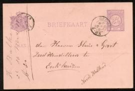 G - Briefkaart met kleinrondstempel BEDUM naar ENKHUIZEN.