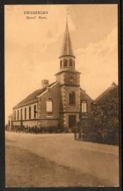 DRIEBERGEN, Geref Kerk. Gelopen kaart.
