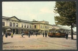 UTRECHT, Station met Electr. tram. Gelopen kaart.