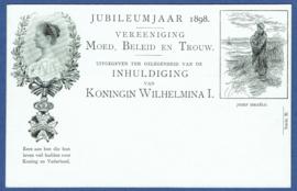 Particulier postwaardestuk 36 B.  JUBILEUMJAAR 1898.