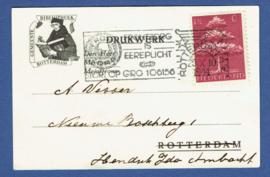 Firma briefkaart ROTTERDAM 1944 met vlagstempel ROTTERDAM C.S. naar Hendrik Ido Ambacht.