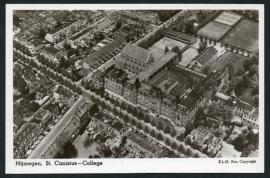 NIJMEGEN, St Canisius College. Ongelopen kaart.