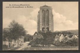 ZIERIKZEE, De St. Lievens Monstertoren vanaf de Karnemelksvaart. Ongelopen kaart.