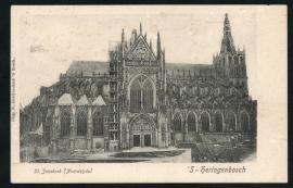 `s HERTOGENBOSCH, St. Janskerk (Noordzijde). Gelopen kaart.