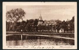 BLOEMENDAAL, Hotel Duin en Daal. Gelopen kaart.