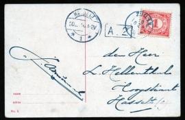 Briefkaart met kleinrondstempel ZUILEN (zonder jaartal) naar HASSELT. Op ansichtkaart Utrecht, Lucas Bolwerk.