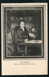 FRANEKER, Eise Eisinga, maker v. h. Planetarium Oud 83 jaar. Ongelopen kaart.
