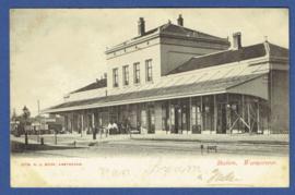 WORMERVEER, Station. Ongelopen kaart.