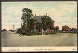 HENGELO, Hotel Hof van Holland. Ongelopen kaart.