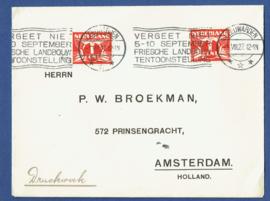 Roltanding 1 op cover met automaatstempel LEEUWARDEN naar Amsterdam.