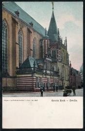 ZWOLLE, Groote Kerk. Ongelopen kaart.