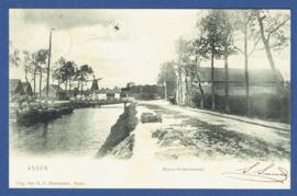 ASSEN, Noord-Willemskanaal. Gelopen kaart.